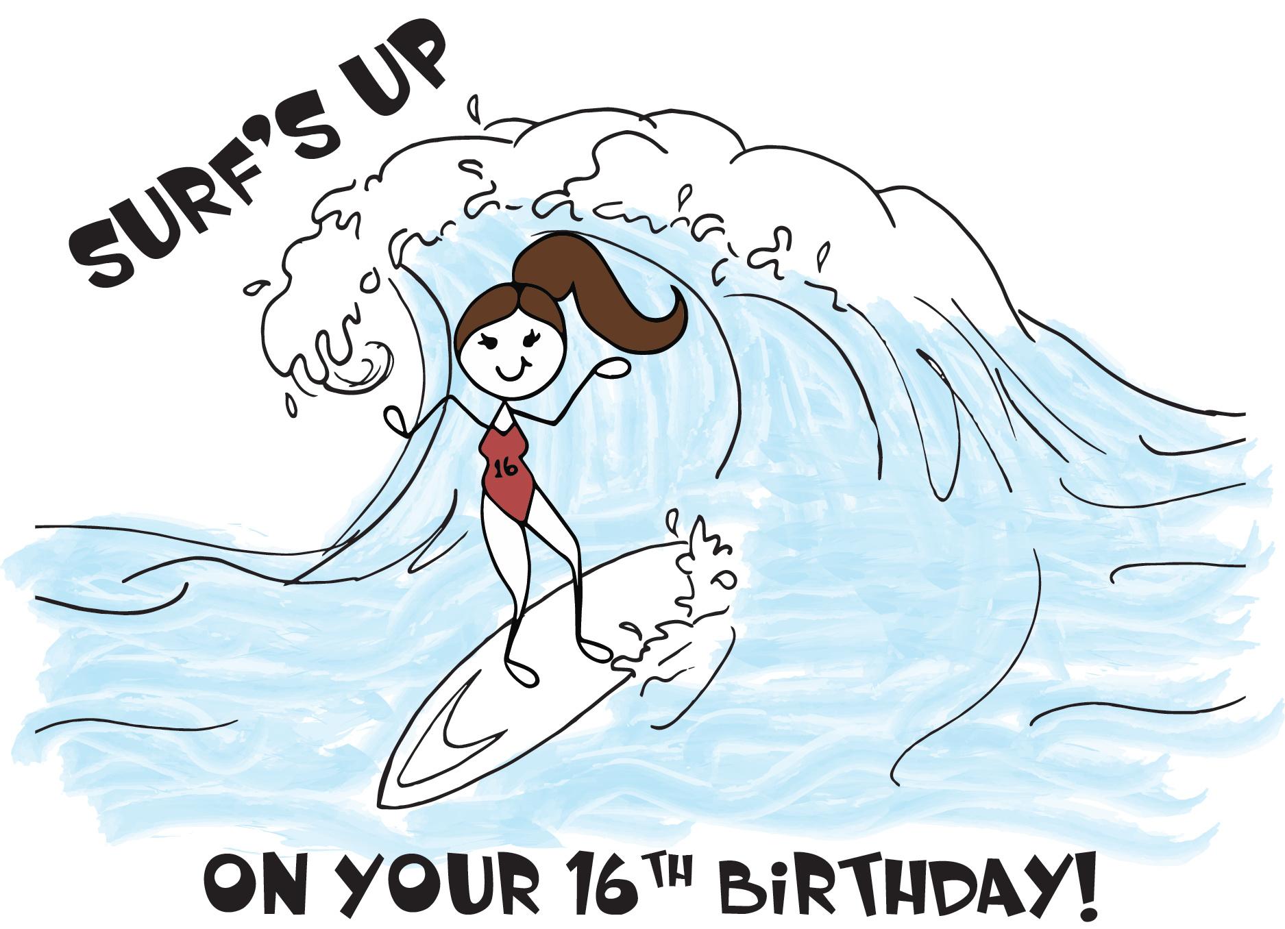 Custom_Surfs Up_16th BDay
