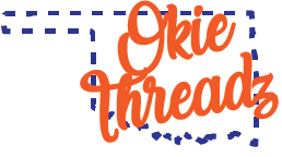 OKIE THREADZ- Full Color-white oklahoma
