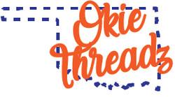 OKIE THREADZ- Full Color-white oklahoma
