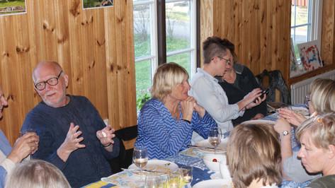 Jan Wiberg och Lillemor Bokström (Västervik) lärare och inspiratörer på internatet.