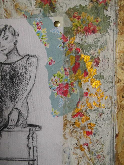 Collage auf Holz 4