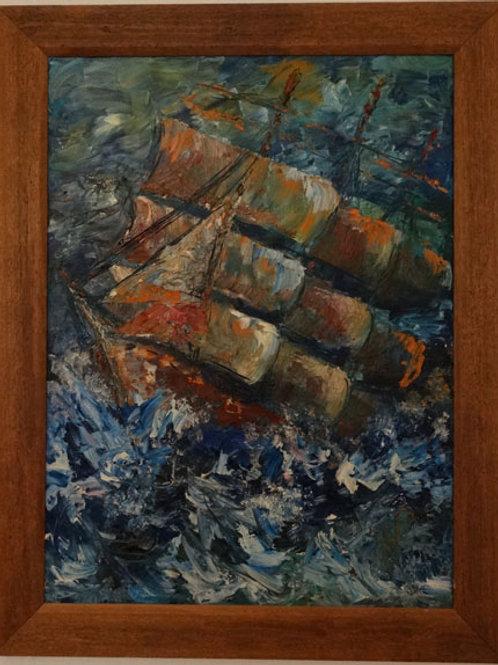 Schiff auf hoher See