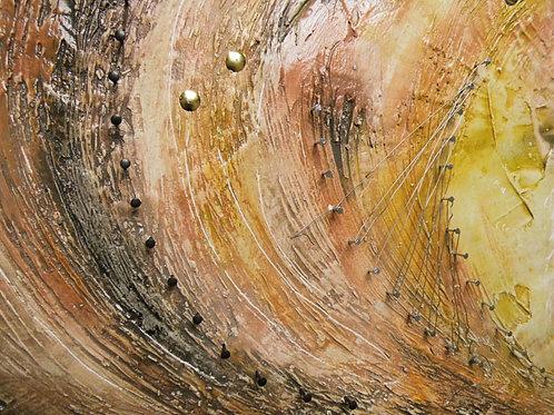 Spachteltechnik auf Holz, Welle
