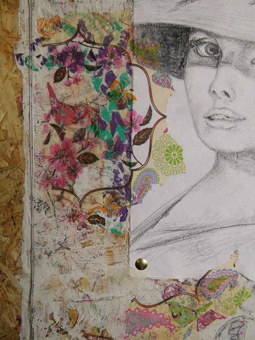 Collage auf Holz 2
