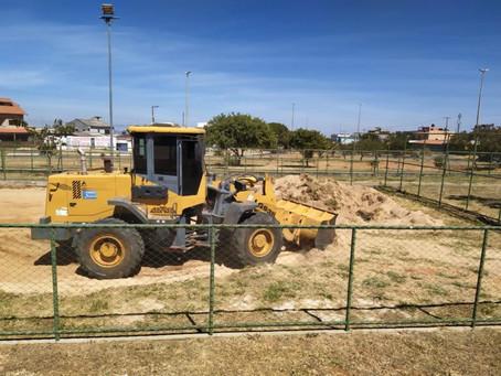 COP do Recanto das Emas tem quadra de areia restaurada