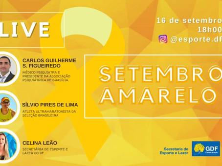 Secretaria de Esporte e Lazer promove live sobre o Setembro Amarelo