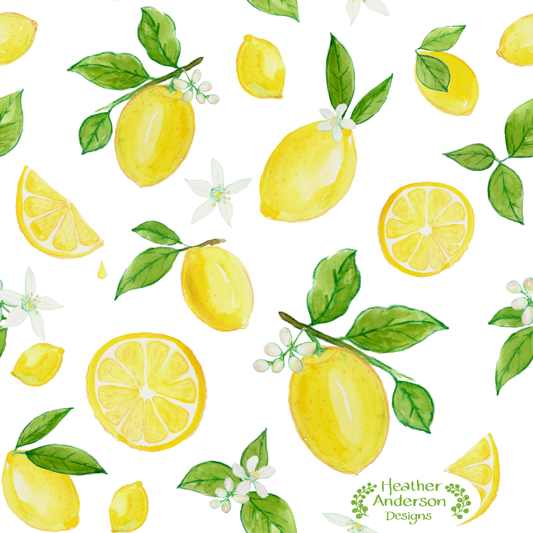 Heather Anderson Lemons in Watercolor