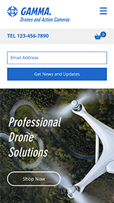 Elektronica website templates – Dronewinkel