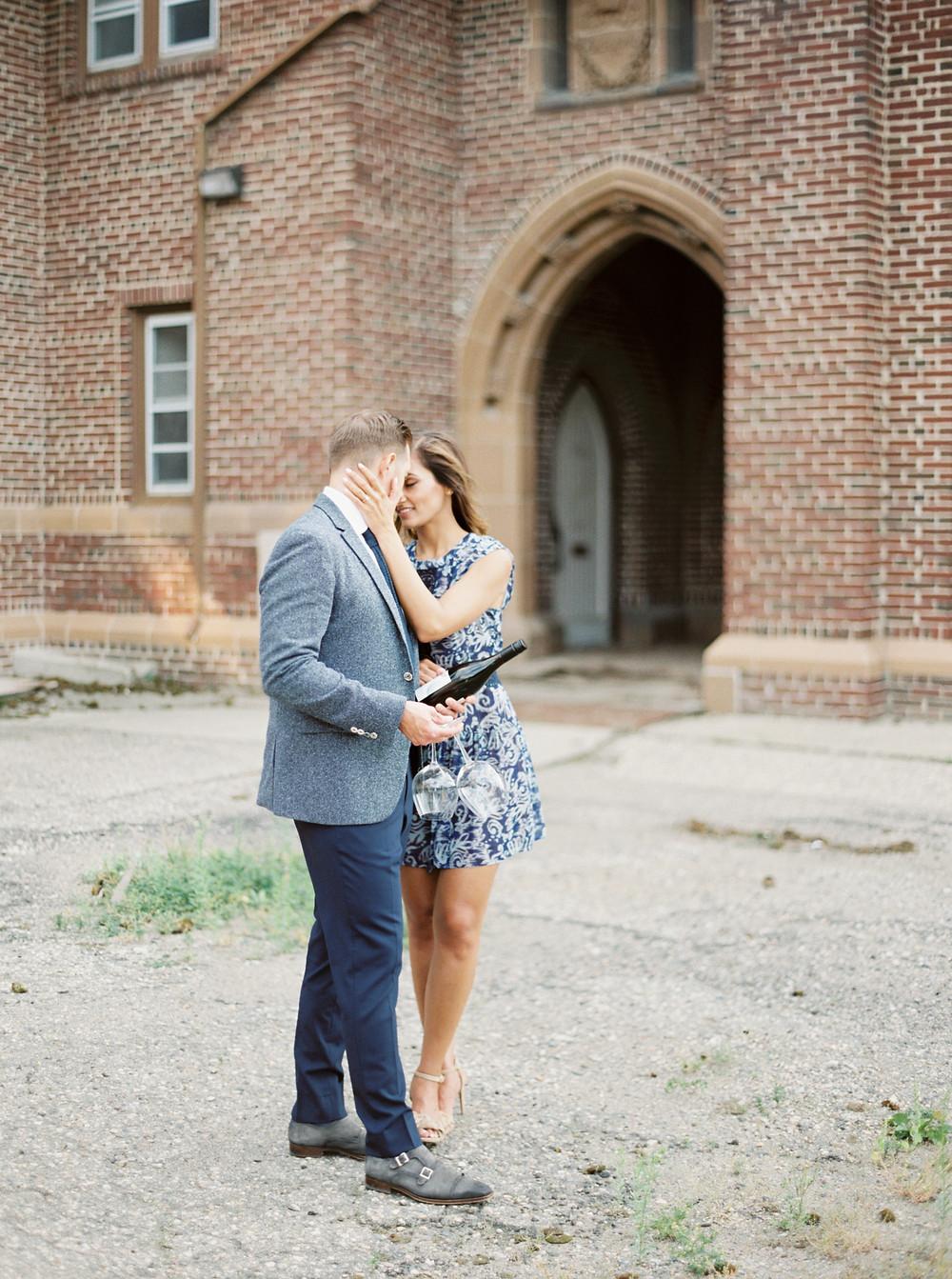 Regina Engagement photographed by Lisa Catherine Photography