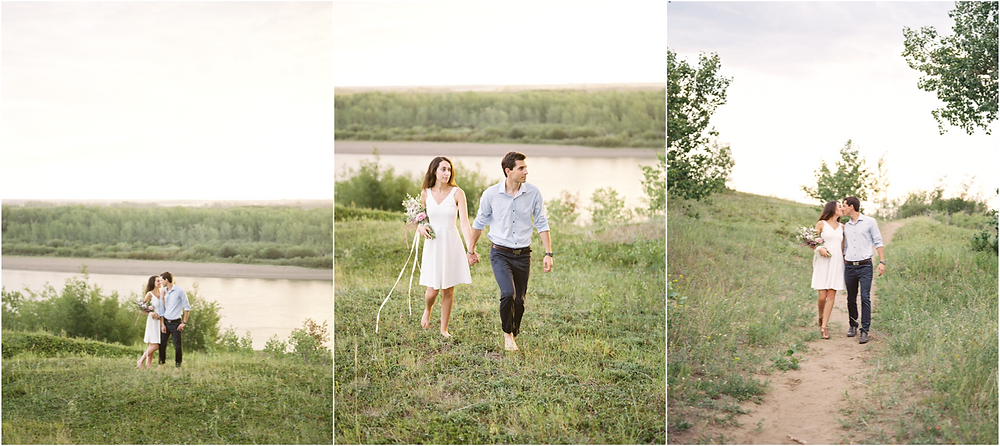 Saskatoon River Engagement, Lisa Catherine Photography, Saskatoon Wedding Photographer