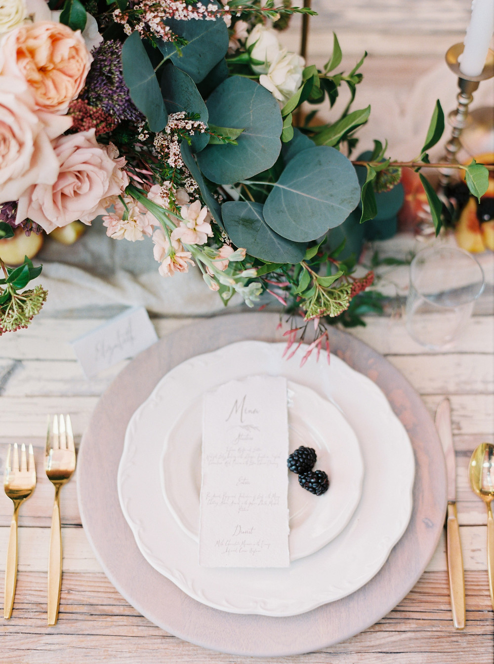 Peach Palette Tablescape, featured in BRIDES, Lisa Catherine Photography, Canadian Wedding Photographer