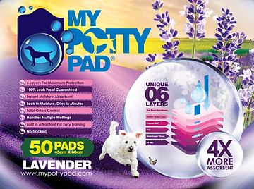 MY POTTY PAD (Lavender) packaging (50) F