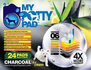 MY POTTY PAD (Charcoal + Lemon) packagin