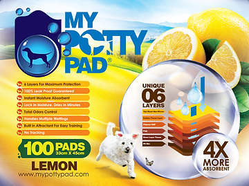 MY POTTY PAD (Lemon) packaging (100) FA-