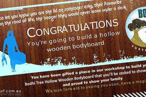 The Ultimate Bodyboard Gift Voucher