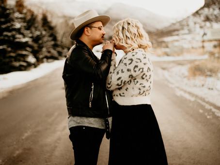Mount Timpanogos Winter Couples Session