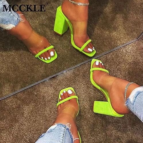 Transparent Strap High Heel