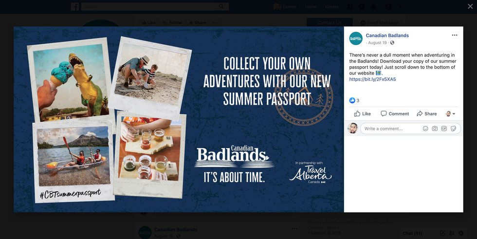Canadian Badlands Social Media Campaign