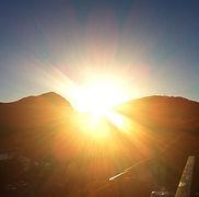 Yoga i solnedgang = påfyll _-))