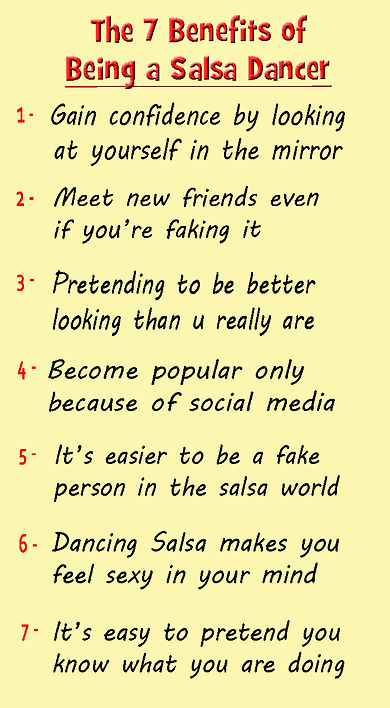The benefits of being a Salsa dancer - 1