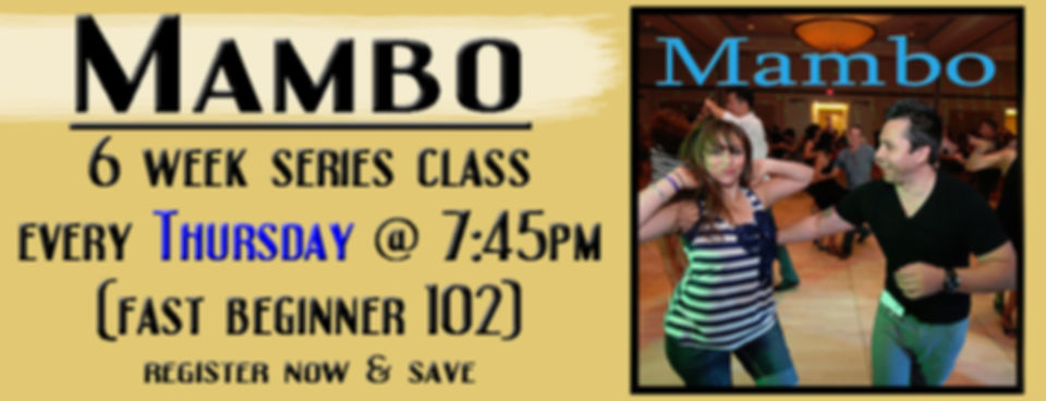 6 week series Mambo class every thursday