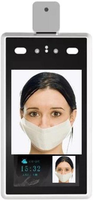 Temperatura corporal/Uso de máscara/Contagem de pessoas 8''