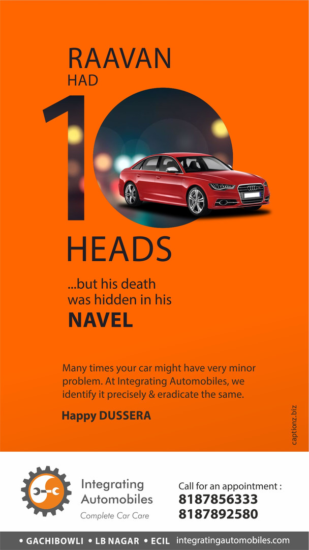 integrating automobiles dussera