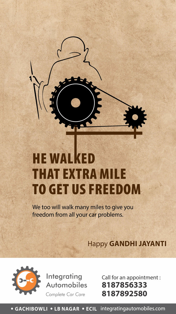 integrating automobiles gandhi jayanti