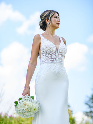 Photo:  Studio Six Weddings @studiosixweddings Makeup & Hair: Lesley-Ann Maltar Gown:  Best for Brides @bestforbrides Model: Leily Fig @leilyfig