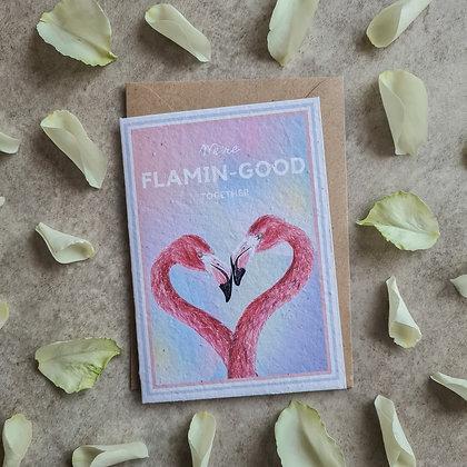 Plantable Collection Flamingo Card - No Waste Eco-friendly