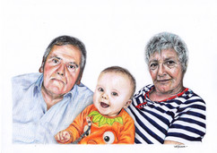 Portrait-  Grandparents with Baby Grandson
