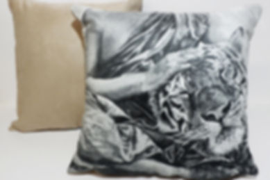 Faux Suede Cushions from Art by Vanessa