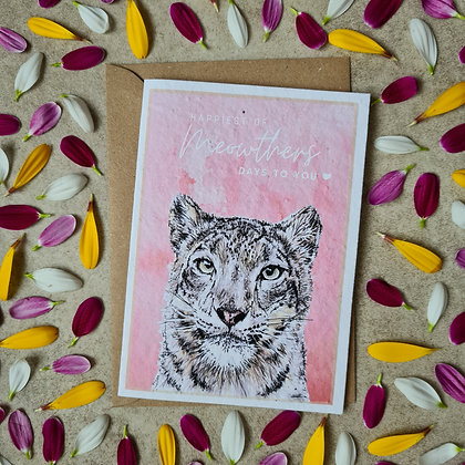 Plantable Collection Mother's Day Snow Leopard Card - No Waste Eco-friendly