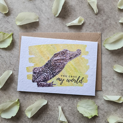 """Plantable Collection """"You Croc My World"""" Card - No Waste Eco-friendly"""