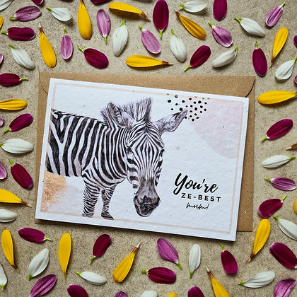 Plantable Collection Mother's Day Zebra Card - No Waste Eco-friendly