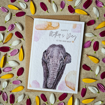 Plantable Collection Mother's Day Elephant Card - No Waste Eco-friendly