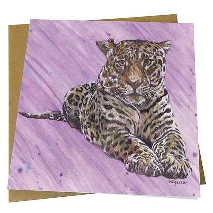 Jaguar Panther Cat Blank Greetings Card - Supports Conservation Charity