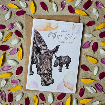 Plantable Collection Mother's Day Rhino Card - No Waste Eco-friendly