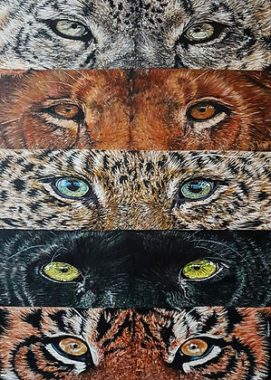 "Original Acrylic Painting on Canvas - ""Panthera: Now You See Me..."""