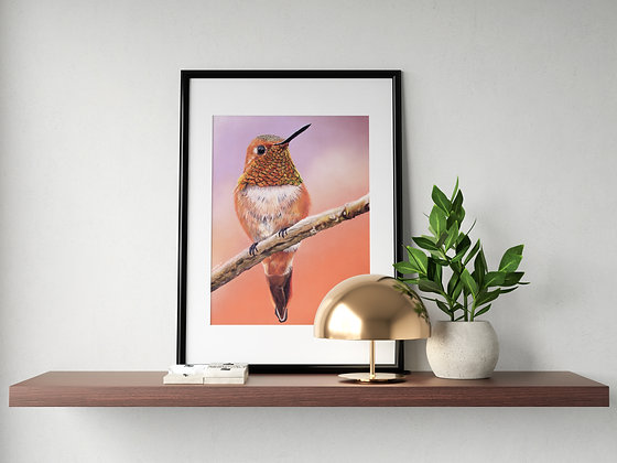 LIMITED EDITION Charity Print Rufous Hummingbird