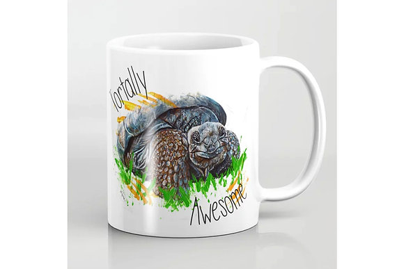 Tortoise Mug - Tortally Awesome - for totally awesome crazy tortoise lady or man