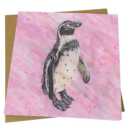 Humboldt Penguin Blank Greetings Card - Supports Conservation Charity