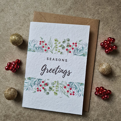 Plantable Collection 'Seasons Greetings' Card - No Waste Eco-friendly Card