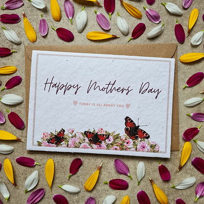 Plantable Collection Mother's Day Butterfly Garden Card - No Waste Eco-friendly