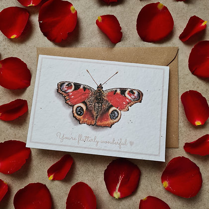 """Plantable Collection Butterfly """"Flutterly Wonderful"""" Card - No Waste Ecofriendly"""
