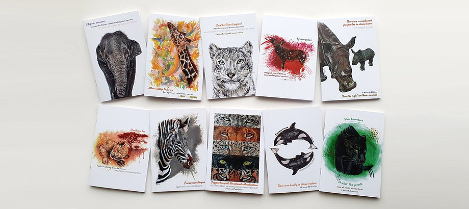 Notebooks Donating to Wildlife Conservat