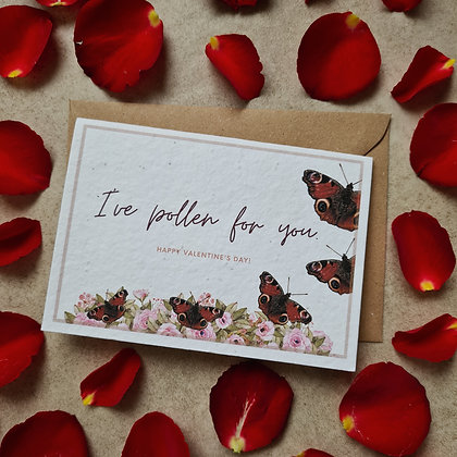 Plantable Collection Butterfly Valentine's Card - No Waste Eco-friendly