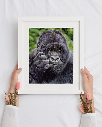 "LIMITED EDITION Charity Print Silverback Gorilla ""Future Thoughts"""