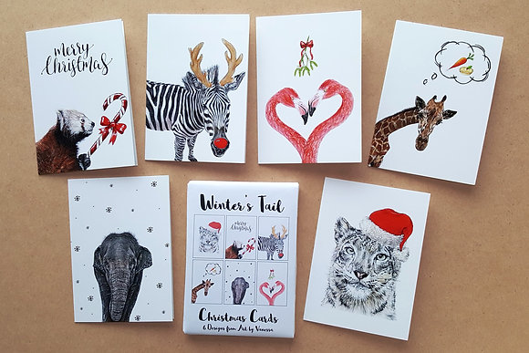 WINTER'S TAIL Set of 6 Christmas Cards