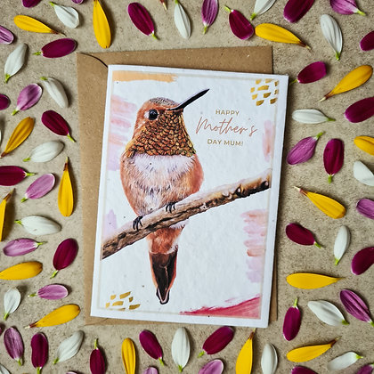 Plantable Collection Mother's Day Humming Bird Card - No Waste Eco-friendly